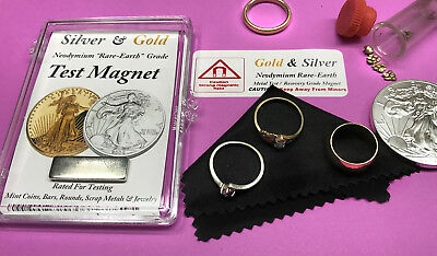 GOLD & SILVER Jewelry Rings Coins Chains Strongest Test Grade N52 Magnet Kit