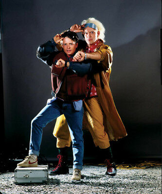 Back to the Future photograph - L1217 - Michael J. Fox and Christopher Lloyd