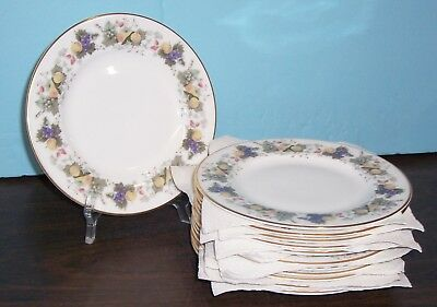 "Lot Of 12 Royal Doulton Ravenna Bread & Butter  Plates  6.5""  Free U S Shipping"