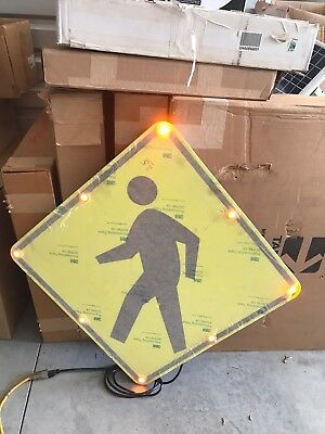 "ONE (1) NEW Tapco Flashing LED Pedestrian Crossing Symbol 30"" x 30"""