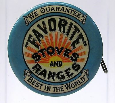 early FAVORITE STOVES & RANGES BeGole Wyandotte MICH celluloid tape measure *