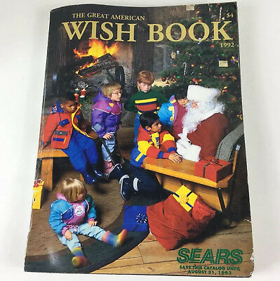 1992 Sears Christmas Wish Book Toys Fashion Catalog Children Vintage Clothing