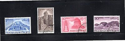 Pakistan 1963 Archaeological Series SG 188/91 Used