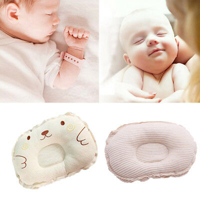 UK New Soft Newborn Baby Pillow Prevent Flat Head Anti-roll Sleeping Cushion J
