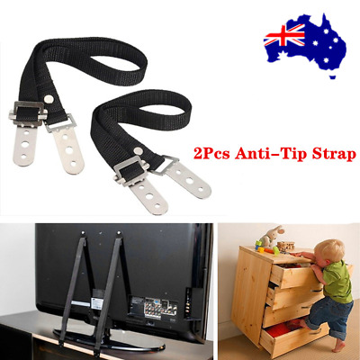 2pcs TV Safety Strap Anti Tip Set Kid Proof Safe Strip