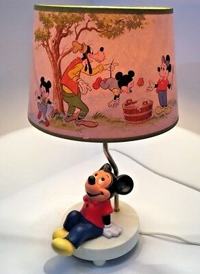 Vintage walt disney mickey mouse lamp 1981 dolly toy co with vintage walt disney mickey mouse lamp 1981 dolly toy co with original shade aloadofball Choice Image