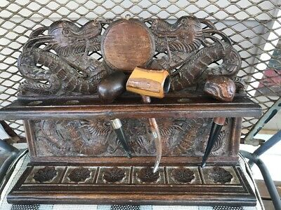 Antique Chinese Pipe Rack