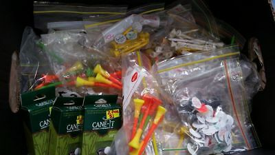 Golf Tees Rubber top and wooden ,markers all bagged Market resell POST FREE