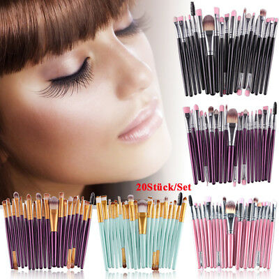 20tlg Professionelle Make-up Pinsel Set Brush Kosmetik Pinsel Schminkpinsel Sets