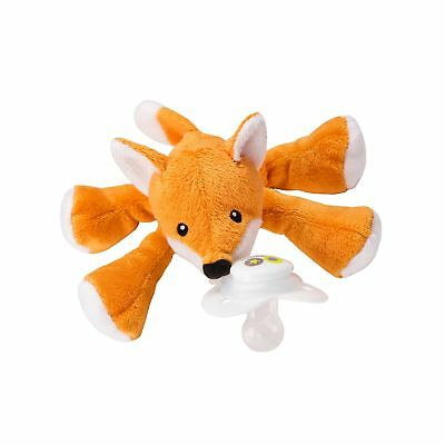 Nookums Paci-Plushies Fox Shakies - Pacifier Holder and Rattle (2 in 1) (Plus...