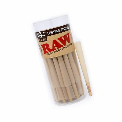 RAW Classic King Size Pure Hemp Pre-Rolled Cones With Filter (50 Pack) 50 Pack