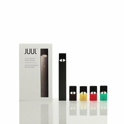 NEW JUUL-DEVICE + CHARGER - STARTER KIT INCLUDES 4 FLAVOR PODS!! Free Shipping