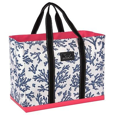 """SCOUT Original Deano large tote bag *NEW SPRING PATTERN """"Areefa"""" coral"""