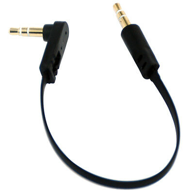 3.5mm Male to Male Headphone Angle Audio Jack Adapter Converter Cable Lead 15cm