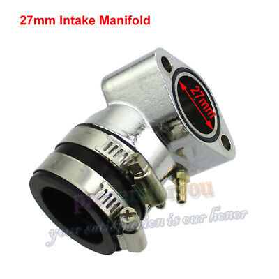 27mm Intake Manifold For GY6 125cc 150cc Chinese Moped Scooter Go Kart Buggy