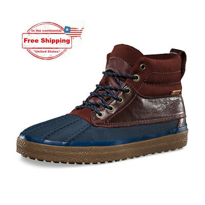 86d950e55fb9a6 VANS SK8-HI DEL Pato MTE Duck Boot- Navy/Chocolate [4.5 men,6 wmn ...
