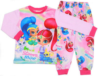 NEW Size 2-7 KIDS PYJAMAS SHIMMER & SHINE GIRL WINTER SLEEPWEAR PJS NIGHTIES