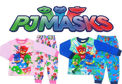 New Size 2-7 Kids Pyjamas Pj Mask Winter Ninja Boys Girls Sleepwear Pjs Nighties