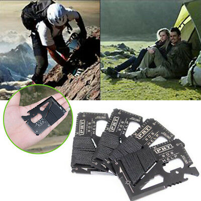 16-in-1 Multi Knife Hand Tool Portable Wallet Camping Outdoor Survival EDC Tools