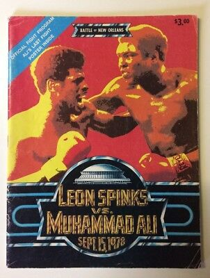 Muhammad Ali vs Leon Spinks World Heavyweight Title Boxing Programme 1978
