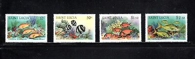 St Lucia 1983 Coral Reef Fish SG 646/9 MUH