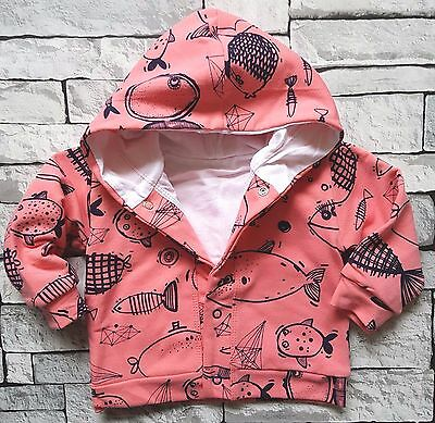 *NEW* Baby Girls*Hooded *Lined *Jumper*Jacket * High Quality Cotton! 9-12 Months