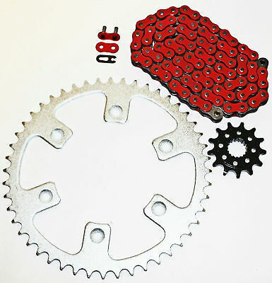 Honda 2002-2003 CRF450 R / 2005-2014 CRF450 X Red Chain And Sprocket 13/50 114L