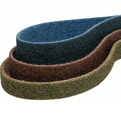 """1.5"""" x 30"""" Surface Conditioning Pipe Sanding Belts 1 each: Tan Red Blue - 3 PACK"""