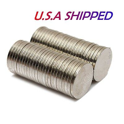 50PCS 10mm X 1mm Strong Round Disc Rare Earth Magnets Neodymium N50 U.S SHIPPED