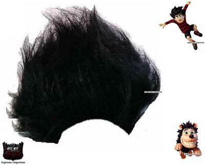 Adults Black Spiked Dennis The Menace Book Week Day Fancy Dress Costume Wig New
