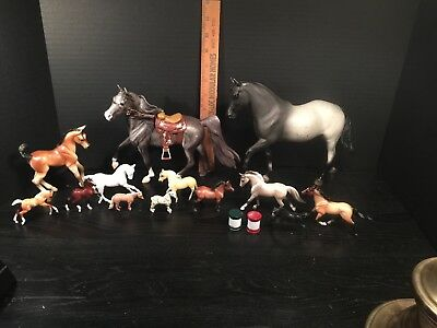 Lot Of 13 Breyer Horses Traditional Classic Mini Whinnies Stablemates