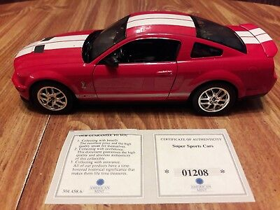 2007 Shelby Cobra GT500, (American Mint), Die Cast, 1:24, Cert. Of Authenticity