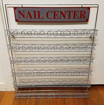 Metal Nail Polish Mountable 6 Tier Organizer Display Rack Excellent condition