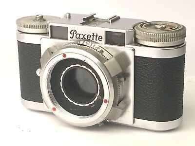 Braun Paxette II 35mm Film Camera Body from the 1950s, with Case. Free Shipping.