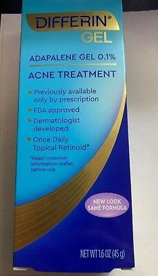 One Tube Of Differin Acne Treatment Gel 1.6 OZ (EXP: 06/2020 or longer)