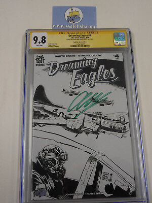 Dreaming Eagles #4 Ssalefish exclusive sketch variant CGC 9.8 SS Garth Ennis sig