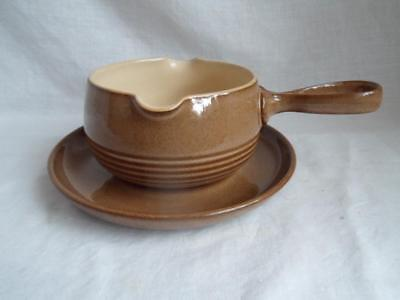 Denby Pampas  Ribbed Sauce Boat and Underplate Free UK Delivery