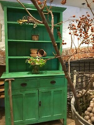 Stunning Green Painted Pine Dresser