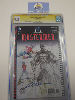 DC Multiversity Mastermen #1 1:100 Jim Lee SIGNED sketch variant CGC 9.8 SS