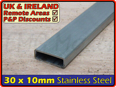 Stainless Steel Rectangular Tube ║ 30 x 10 mm ║ box section iron,profile,tubing