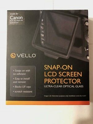 Vello Snap-On Glass LCD Screen Protector for Canon 5D Mark III, IV, 5DS, 5DS R