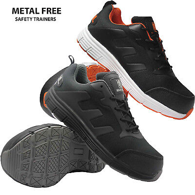 Mens Women New Ultra Lightweight Plastic Toe Cap Safety Trainers Work Boot Shoes
