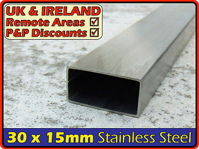 Stainless Steel Rectangular Tube ║ 30 x 15 mm ║ box section iron,profile,tubing