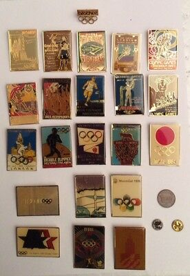 Lot 22 Large Olympics Brooches  Pin's Official IOC CIO Brother Sponsoring