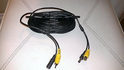 Lot of 2 Swann 60ft/18.3m Security RCA Camera Video Power Cable total 120ft
