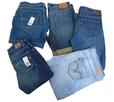 NWD Women LEVIS 10 Pieces assorted sizes style color Rip cut jeans shorts mix #1
