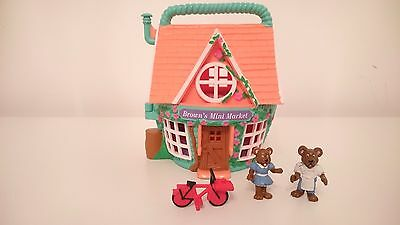 Vintage Polly Pocket Style 1995 Teeny Weeny Brown's Mini Market Toy With Figures