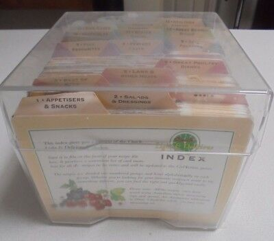 755 Cooking Cards Quick Light & Delicious Recipe Cards - Set Box-weight  3.9 kg