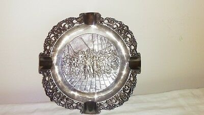Dutch Silver Plated Ashtray 90
