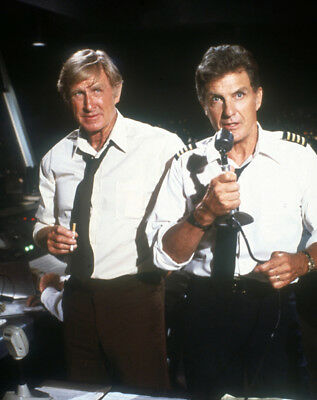Airplane! UNSIGNED photograph - L1279 - Lloyd Bridges and Robert Stack